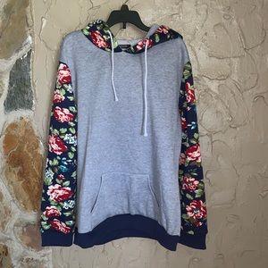 Floral pullover hoddie
